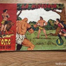 Tebeos: Nº 1, TORG HIJO DE LEÓN, LA HISTORIA, ED ANDALUZA 1960. Lote 141326434