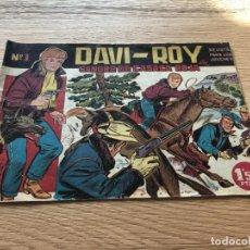 Tebeos: Nº 1, DAVI ROY, SANGRE DE CASACA ROJA,ED CREO 1959. Lote 141657754