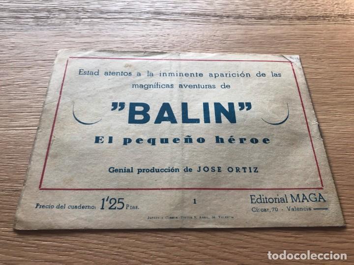 Tebeos: Nº 1, CARLOS DE ALCÁNTARA, ED MAGA 1955 - Foto 2 - 141660710