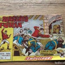 Tebeos: Nº 1, EL SARGENTO FURIA, EMBOSCADA, ED BRUGUERA 1962, MUY BUEN ESTADO!!!!. Lote 141682794