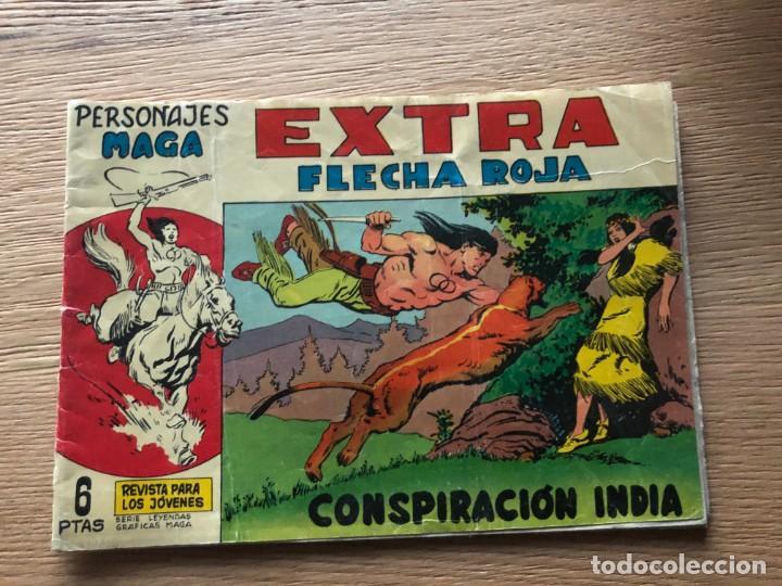 Nº 1 , EXTRA FLECHA ROJA, CONSPIRACIÓN INDIA, ED MAGA 1963 (Tebeos y Cómics - Números 1)