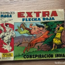 Tebeos: Nº 1 , EXTRA FLECHA ROJA, CONSPIRACIÓN INDIA, ED MAGA 1963. Lote 141683186