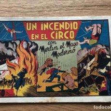 Tebeos: Nº 1 , MERLÍN EL MAGO MODERNO, UN INCENDIO EN EL CIRCO, ED HISPANO AMERICANA 1942. Lote 141683830