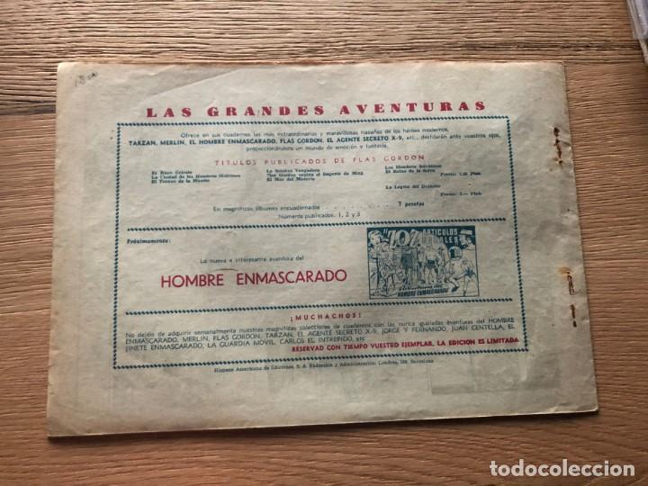 Tebeos: Nº 1 AVENTURA DE FLASH GORDON, EL MONSTRUO DE LOS HIELOS, ED HISPANO AMERICANA 1946 - Foto 2 - 141684442