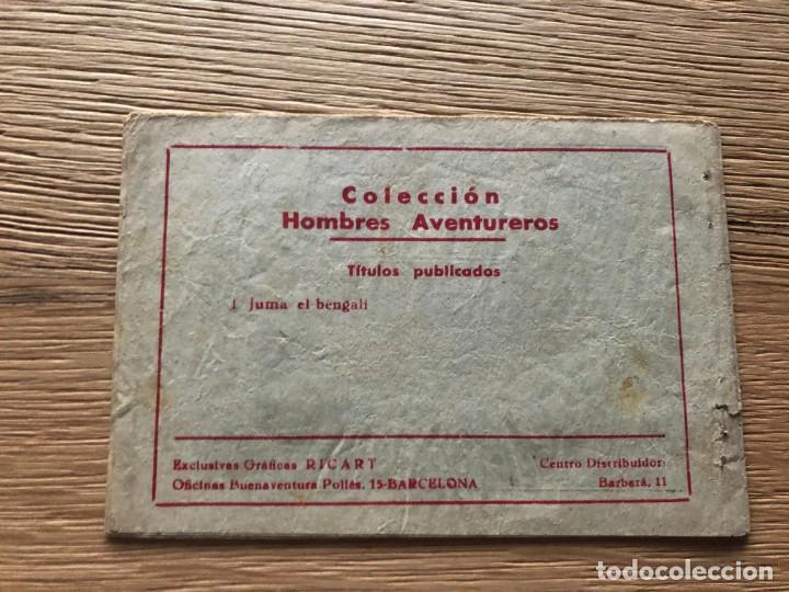 Tebeos: Nº 1, HOMBRES AVENTUREROS, ED RICART 1964, MUY BUEN ESTADO - Foto 2 - 141698018