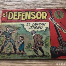 Tebeos: Nº 1 EL DEFENSOR, EL CAPITÁN VENENO, ED MAGA 1962. Lote 141700930