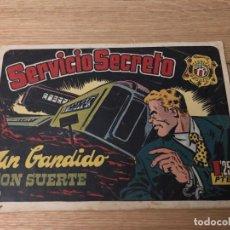Tebeos: Nº 1 SERVICIO SECRETO, UN BANDIDO CON SUERTE, ED HISPANO AMERICANA 1954. Lote 141833434