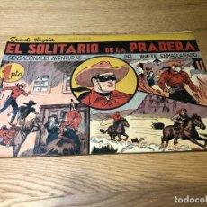 Tebeos: Nº 1,EL JINETE ENMASCARADO, EL SOLITARIO DE LA PRADERA. ED HISPANO AMERICANA.1943, MUY BUENO CAJA/02. Lote 141933202