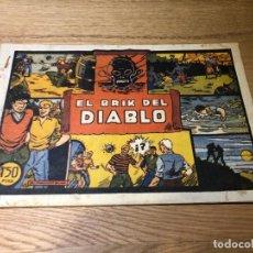 Tebeos: Nº 1, JULIO Y RICARDO, EL BRIK DEL DIABLO, ED VALENCIANA 1942, CAJA/02. Lote 141934106