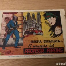 Tebeos: Nº 1, ENIGMA ESCARLATA, EL INVENTO DEL PROFESOR PERSING, ED TORAY 1954. Lote 141958198