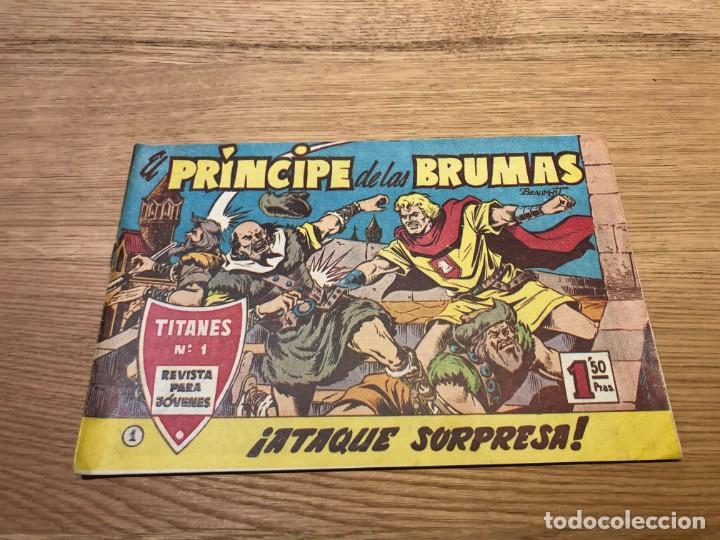 Nº 1, EL PRÍNCIPE DE LAS BRUMAS, ATAQUE SORPRESA, ED SADE 1961,MUY BUEN ESTADO, CAJA/02 (Tebeos y Cómics - Números 1)