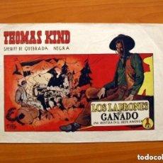 Tebeos: THOMAS KIND, Nº 1 - LOS LADRONES DE GANADO - EDITORIAL LOSADA 1945 - TAMAÑO 21X32, VER FOTOS. Lote 146134870