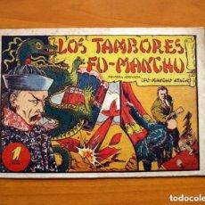 Tebeos: LOS TAMBORES DE FU-MANCHÚ - Nº 1, FU-MANCHÚ ATACA - EDITORIAL VALENCIANA 1943 - TAMAÑO 17X24. Lote 146252314