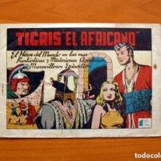 Tebeos: TIGRIS EL AFRICANO, Nº 1 - EDITORIAL EDETA 1949 - TAMAÑO 17X24'5. Lote 146256898
