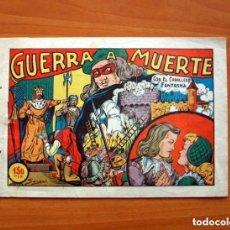 Tebeos: EL CABALLERO FANTASMA - Nº 1, GUERRA A MUERTE - EDITORIAL SATURNO 1947 - TAMAÑO 17X25. Lote 146264442