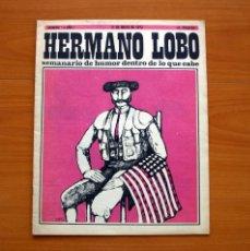 Livros de Banda Desenhada: HERMANO LOBO Nº 1, SEMANARIO DE HUMOR - EDITORIAL PLEYADES 1972 - TAMAÑO 36X29 CM.. Lote 146492714