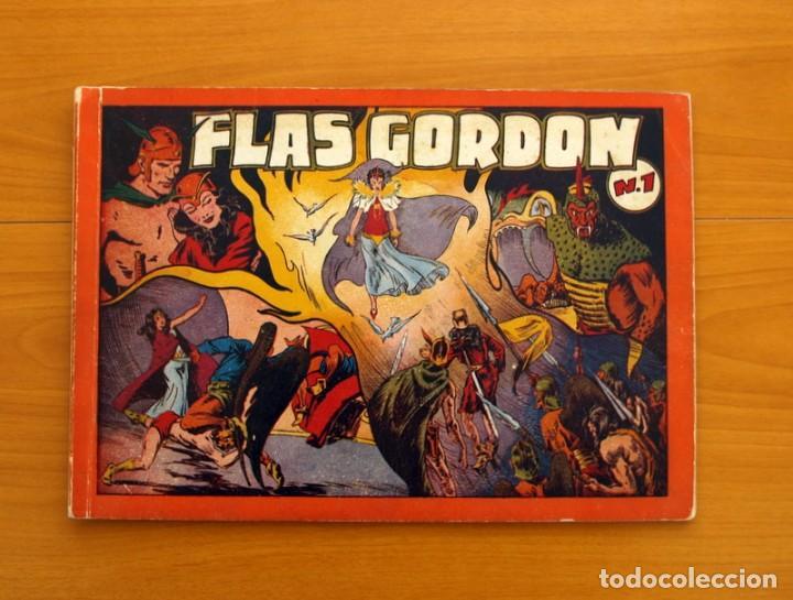 FLAS GORDON ÁLBUM ROJO Nº 1 - EDITORIAL HISPANO AMERICANA 1944 - TAMAÑO 35X24 CM. (Tebeos y Cómics - Números 1)