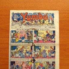 Tebeos: YUMBO Nº 1, EL ELEFANTE SABIO Y SU PANDILLA - EDITORIAL HISPANO AMERICANA 1934 - TAMAÑO 36X25 CM.. Lote 146494178