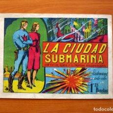 Tebeos: VÍCTOR ALICIA Y EL PROFESOR GUILLERMO DE ALAVA-Nº 1 LA CIUDAD SUBMARINA-EDITORIAL J. L. AGUILAR 1943. Lote 146509566