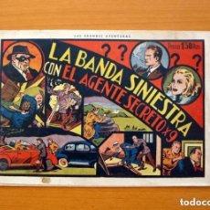 Tebeos: AGENTE SECRETO X9 - Nº 1, LA BANDA SINIESTRA - EDITORIAL HISPANO AMERICANA 1941. Lote 146893318
