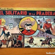 Tebeos: EL JINETE ENMASCARADO Nº 1, EL SOLITARIO DE LA PRADERA - EDITORIAL HISPANO AMERICANA 1943. Lote 146894310