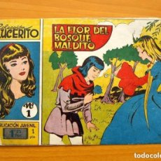 Tebeos: LUCERITO - Nº 1, LA FLOR DEL BOSQUE MALDITO - EDITORIAL MATEU 1959. Lote 146901018
