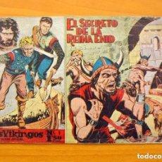 Tebeos: LOS VIKINGOS - Nº 1, EL SECRETO DE LA REINA ENID - EDITORIAL MATEU 1959. Lote 146901682