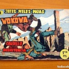 Tebeos: JEFES PIELES ROJAS, Nº 1 WOKOWA, CAUDILLO DE LA RESISTENCIA - EDITORIAL GESTIÓN 1958. Lote 146971166