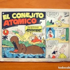 Tebeos: EL CONEJITO ATÓMICO - Nº 1, VACACIONES ACCIDENTADAS - EDICIONES CLIPER 1958. Lote 146971654