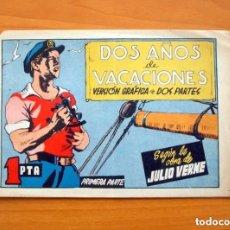 Tebeos: DOS AÑOS DE VACACIONES Nº 1 PRIMERA PARTE - JULIO VERNE - AVENTURAS CÉLEBRES - EDICIONES CLIPER 1942. Lote 146971938