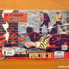 Tebeos: INSPECTOR H - Nº 1, LA LLAMADA DE UN MUERTO - EDITORIAL MAGA 1961. Lote 146973022