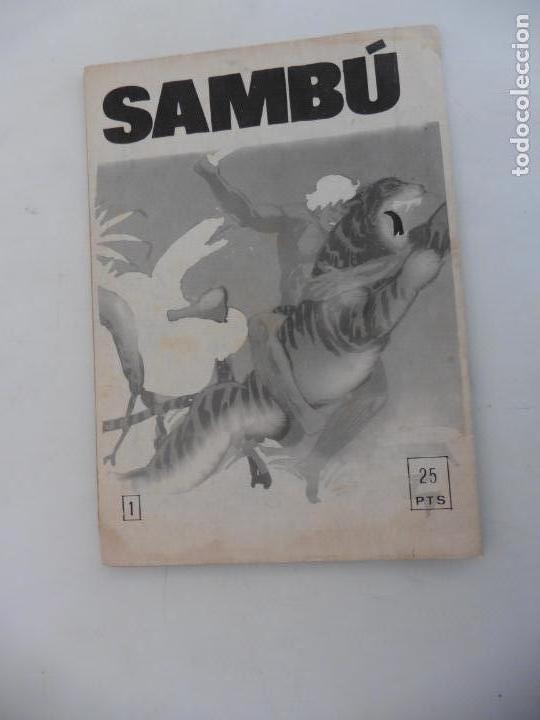 Tebeos: SAMBU Nº 1 EDITORIAL VILMA AÑOS 70 ORIGINAL - Foto 2 - 148787762