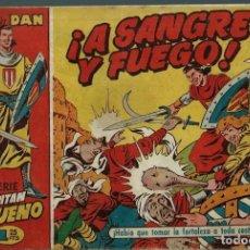 Tebeos: EL CAPITAN TRUENO Nº 1 - ¡ A SANGRE Y FUEGO ! - BRUGUERA 1956 - FASCICULO ORIGINAL - BASTANTE BIEN. Lote 151621798
