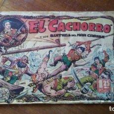 Tebeos: EL CACHORRO Y LOS BUITRES DEL MAR CARIBE. NÚMERO 1. EDICIONES BRUGUERA 1951. Lote 153442134