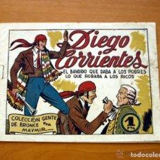 Tebeos: DIEGO CORRIENTES -Nº 1 EL BANDIDO QUE DABA A LOS POBRES LO QUE ROBABA A LOS RICOS-EDIT. AMELLER 1950. Lote 154012098