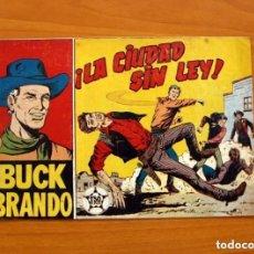 Tebeos: BUCK BRANDO - Nº 1, LA CIUDAD SIN LEY - EDITORIAL MATEU 1959 - TAMAÑO 17X24. Lote 154155822