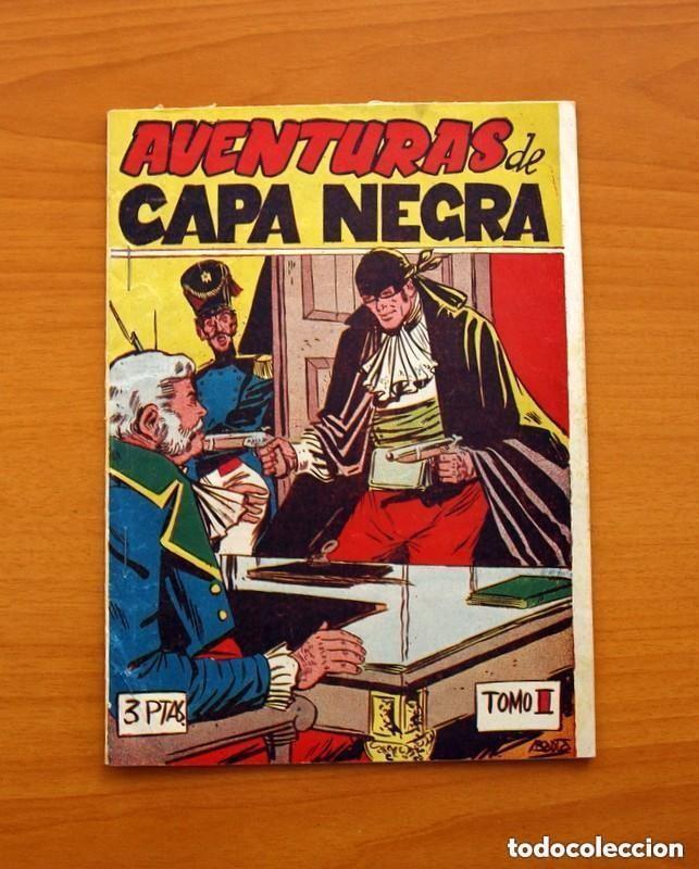 AVENTURAS DE CAPA NEGRA Nº 1, TOMO - EDITORIAL RICART 1954 - TAMAÑO 23X17 - VER FOTOS (Tebeos y Cómics - Números 1)