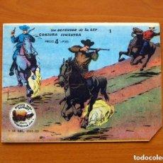 Tebeos: WINCHESTER JIM ÁLBUM, Nº 1 UN DEFENSOR DE LA LEY, CONJURA SINIESTRA-EDITORIAL RICART 1963-SIN ABRIR. Lote 154163086