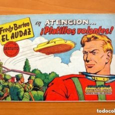Tebeos: FREDY BARTON, Nº 1, ATENCIÓN... ¡ PLATILLOS VOLANTES ! - EDITORIAL VALENCIANA 1960. Lote 154167918
