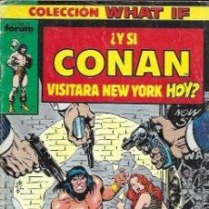 Giornalini: WHAT IF. FORUM 1989. Nº 1 ¿Y SI CONAN VISITARA NEW YORK HOY?. Lote 156845845