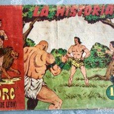 Tebeos: TORG HIJO DE LEON NUMERO 1. ORIGINAL. EDITORIAL ANDALUZA 1960. LA HISTORIA. DIBUJANTE ROLDAN. Lote 164975234