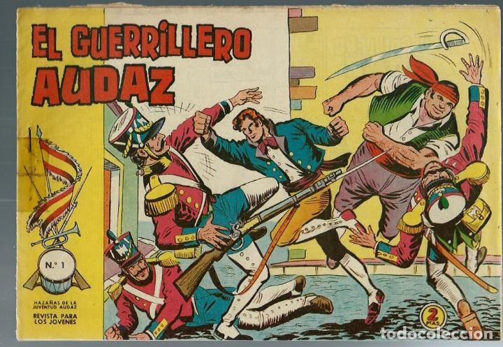 EL GUERRILLERO AUDAZ - NUMERO Nº 1 - VALENCIANA 1962 - ORIGINAL - VER DESCRIPCION (Tebeos y Cómics - Números 1)