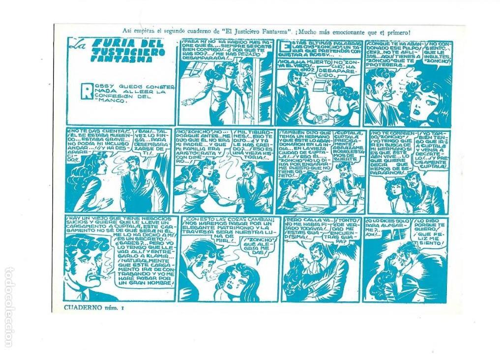 Tebeos: El Justiciero Fantasma, Nº 1. es de Reedición Dibujos Ángel Pardo. - Foto 2 - 166147942