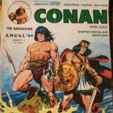 Livros de Banda Desenhada: CONAN. THE BARBARIAN. COMIC VERTICE ANUAL 80.NÚM 1. Lote 168126344