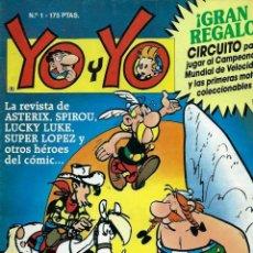 BDs: YO Y YO Nº 1 - TEBEOS SA 1990 - CON ASTERIX, SPIROU, LUCKY LUKE, SUPERLOPEZ, ETC. . Lote 170112172