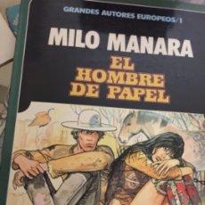 BDs: EL HOMBRE DE PAPEL - MILO MANARA. NÚMERO 1 GRANDES AUTORES EUROPEOS. Lote 173101759