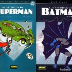 Tebeos: LOTE DE 2 TOMOS LOS ARCHIVOS DE SUPERMAN VOL.1 Y LOS ARCHIVOS DE BATMAN VOL.1. Lote 174047952