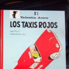 Tebeos: BENITO SANSON VALENTIN ACERO LOS TAXIS ROJOS DE PEYO PERFECTO ESTADO. Lote 175265502