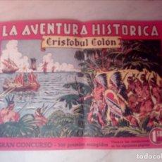 Tebeos: LA AVENTURA HISTÓRICA - CRISTOBAL COLÓN - Nº 1 - AÑO 1943 - (EDICIONES AUGUSTA). Lote 175305863