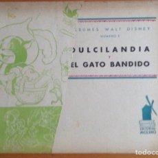 Tebeos: ÁLBUM WALT DISNEY Nº 1, MICKEY PRESENTA DULCILANDIA Y EL GATO BANDIDO -EDITORIAL MOLINO-TAMAÑO 22X30. Lote 177943039